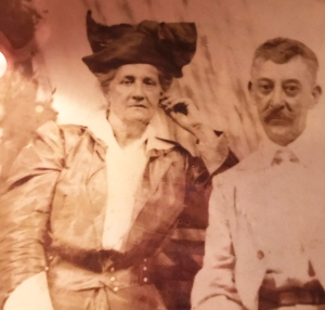 Kimberly's great-great-grandfather, Louis Ferchaud, with her biological great-great-grandmother.